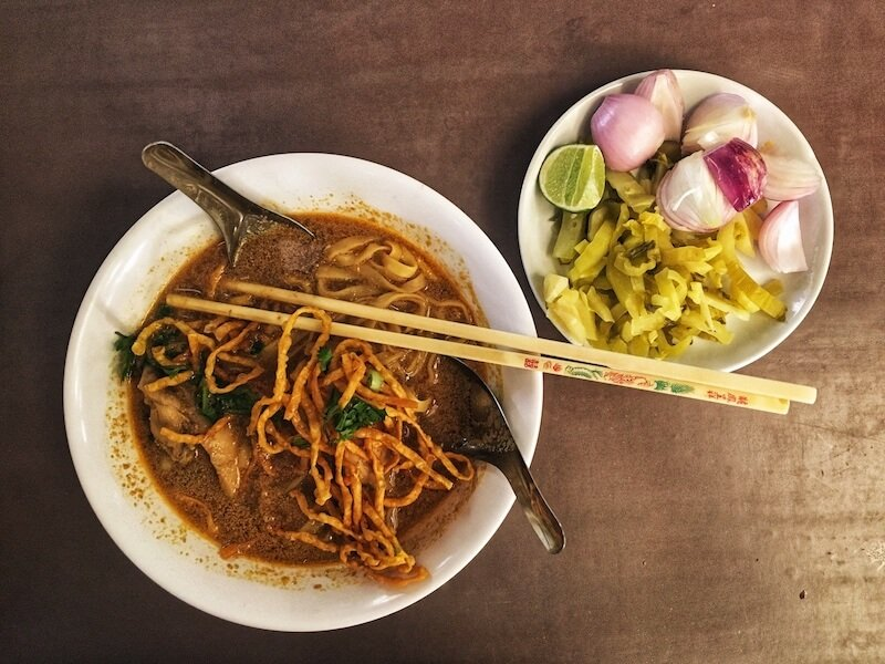 Khao Soi at BannKhum Cafe, Thailand | Moon & Honey Travel