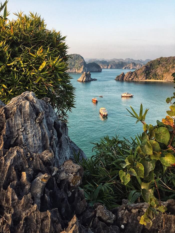 View of Lan Ha Bay, Monkey Island, Vietnam | Moon & Honey Travel