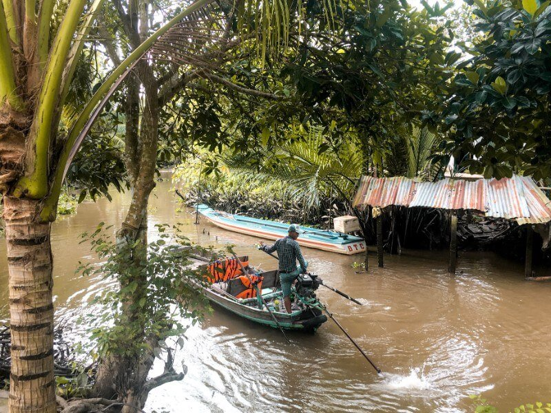 Sampan Boat, Mekong Delta, Vietnam | Moon & Honey Travel