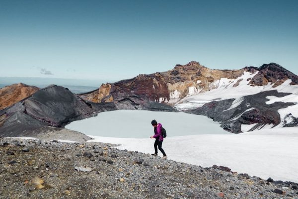 Hiking to Mt Ruapehu Crater Lake without a Guide, New Zealand North Island