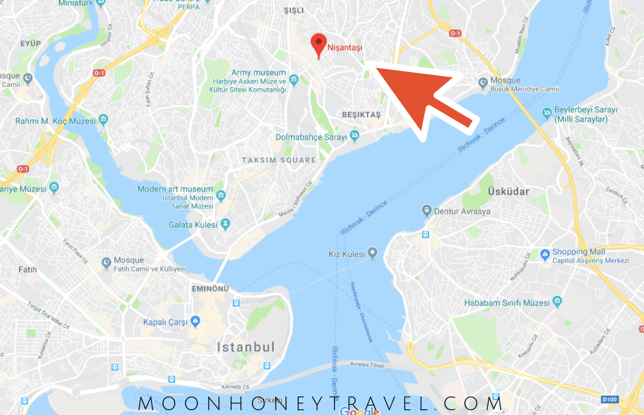 Where is Nisantasi, Istanbul - Map