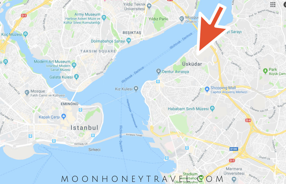 Where is Uskudar, Istanbul | Uskudar Map