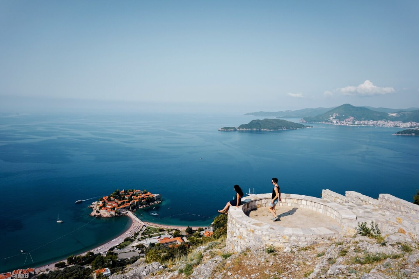 Church St. Sava view of Sveti Stefan - Best Places to Visit in Montenegro