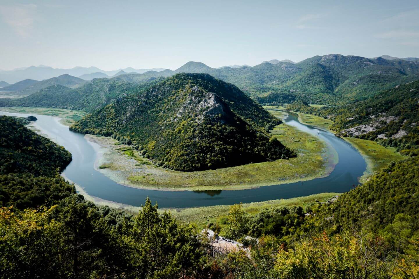 Horseshoe Bend, Lake Skadar, Montenegro Road Trip