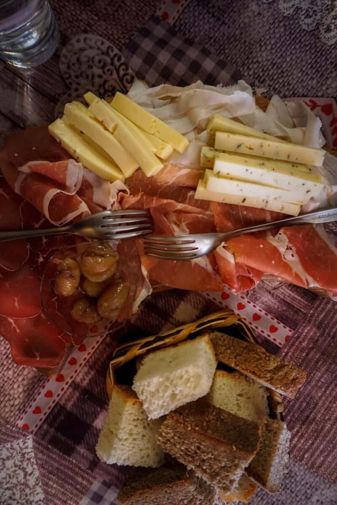 Fontina Cheese and Regional Specialties, La Bottegaccia, Aosta Town, Aosta Valley