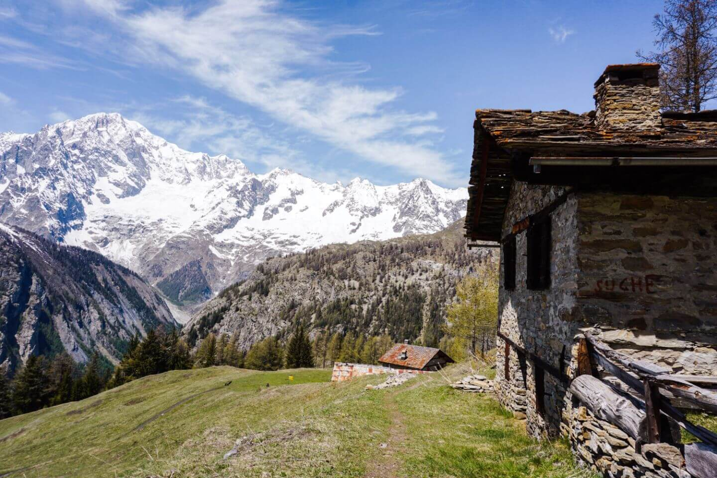 La Suche Plateau, Courmayeur Hiking Trail, Aosta Valley, Italy