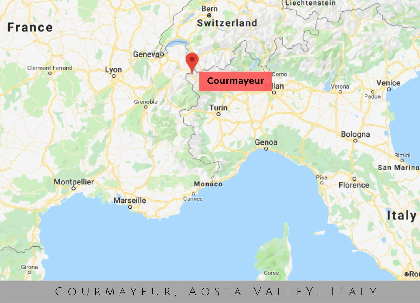 Where is Courmayeur, Italy - Map