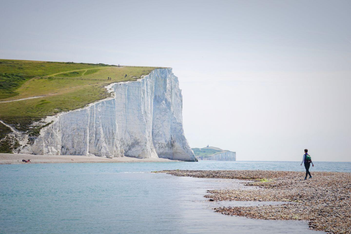 Beach at Cuckmere Haven, Seven Sisters View, England
