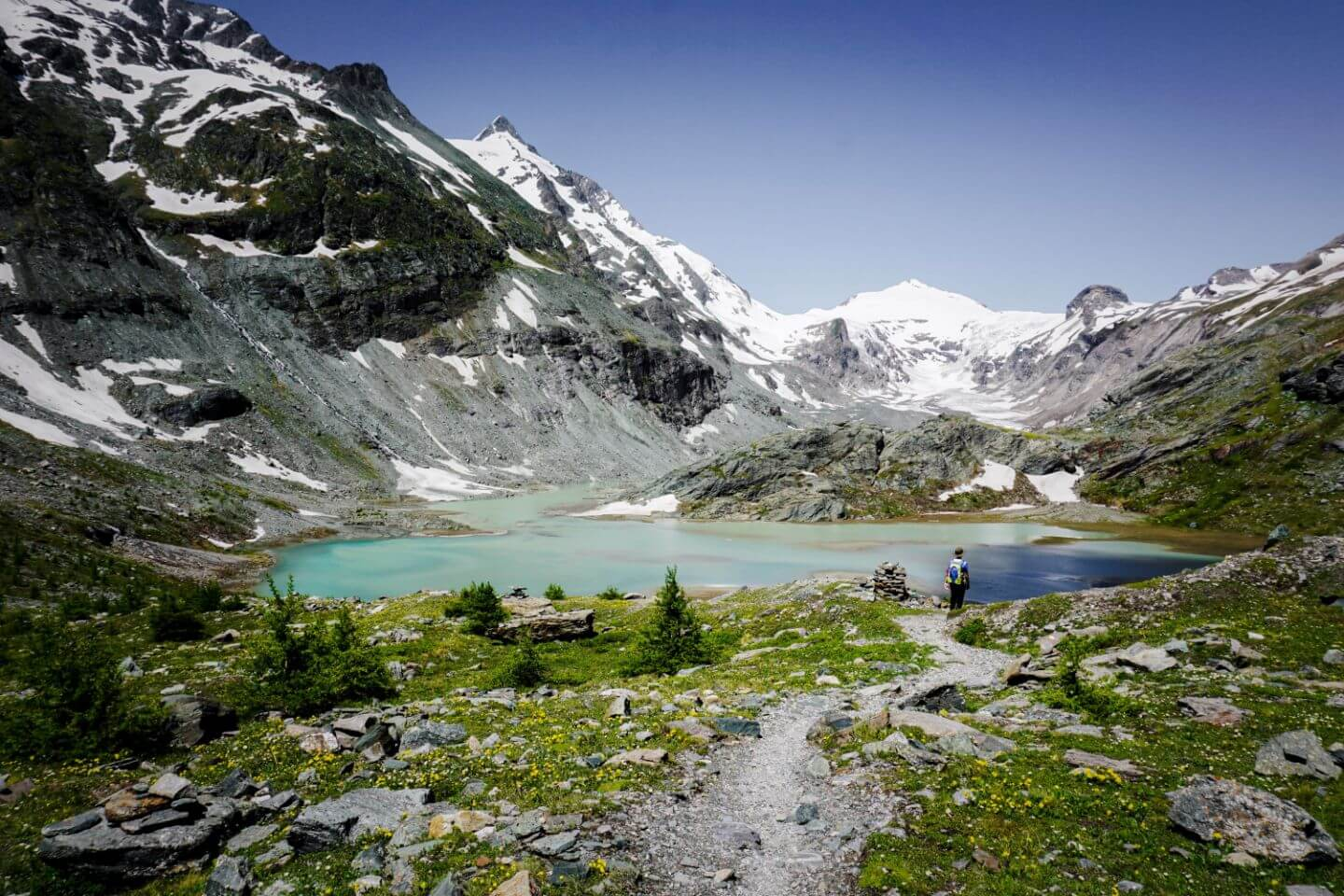 Sandersee, Hohe Tauern National Park, Austria - where to hike off Grossglockner High Alpine Road