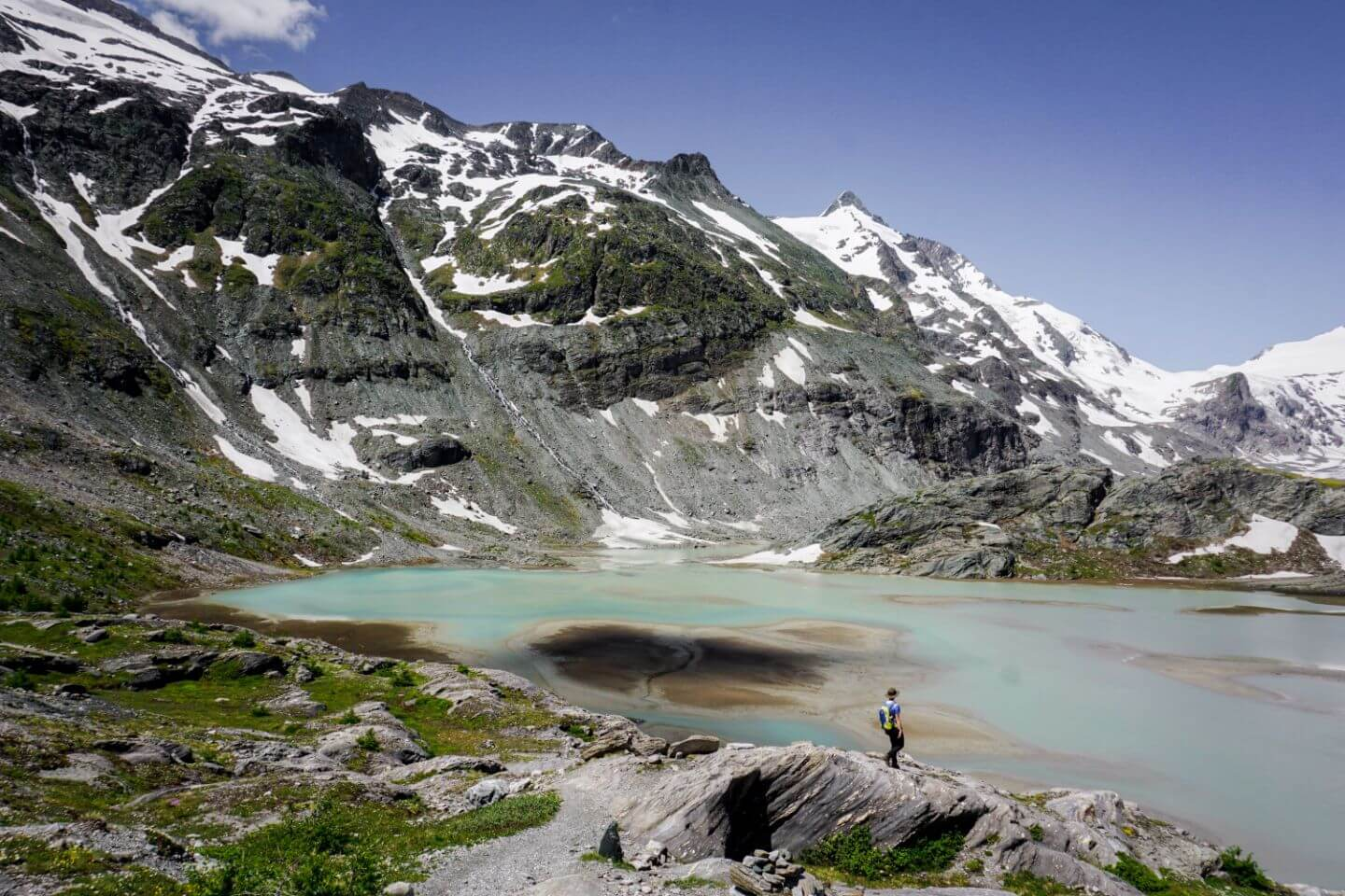 Sandersee, Hohe Tauern National Park - where to hike along the Grossglockner High Alpine Road, Austria