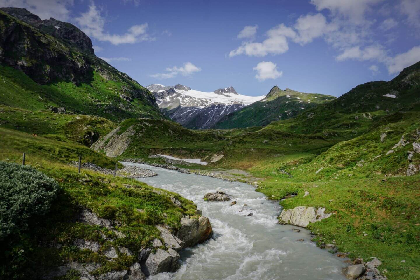 Dorferbach River, Venediger Group, Hohe Tauern Mountains, Venediger High Alpine Trail, Austria