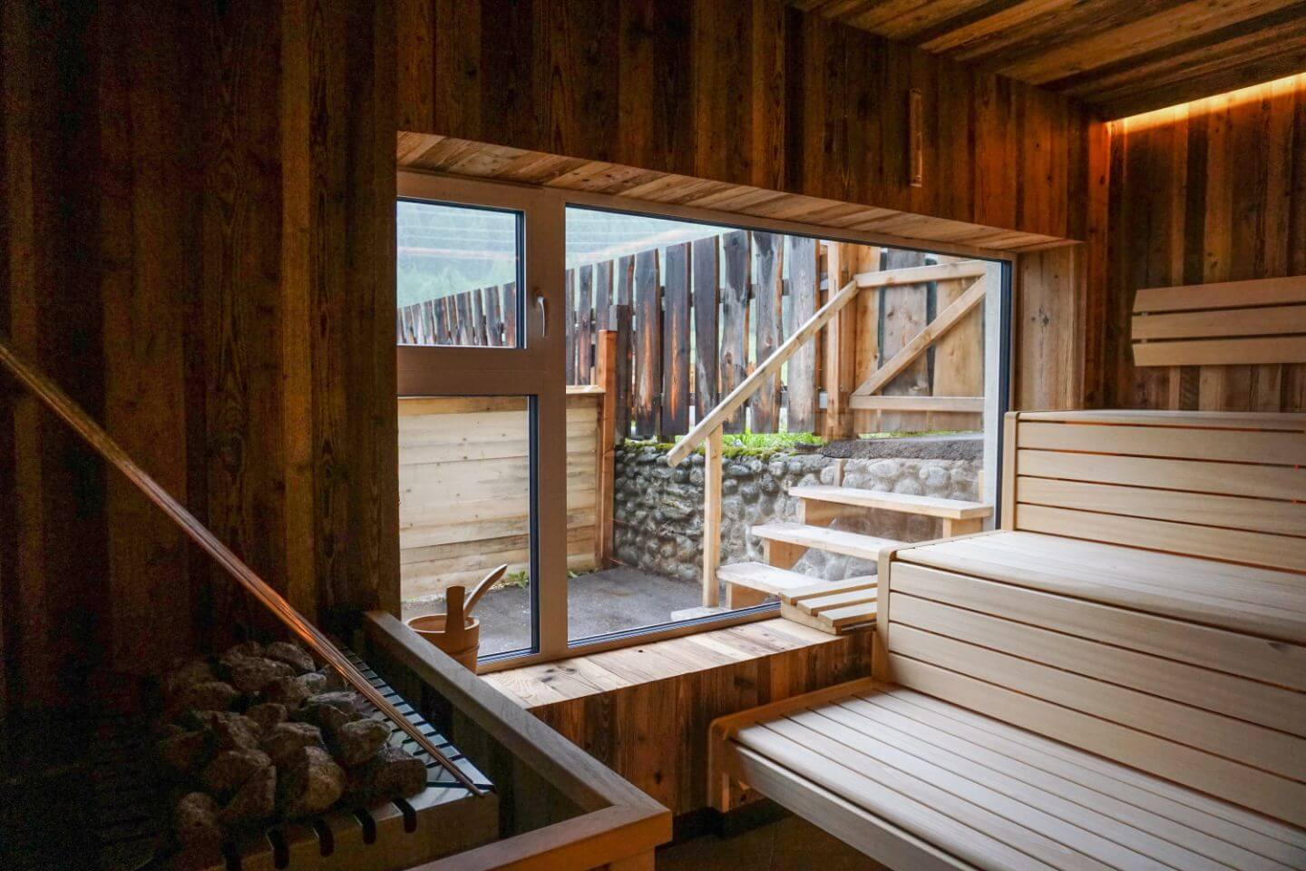 Sauna, Matreier Tauernhaus, Hohe Tauern, Austria - Secret Escape in the Austrian Alps