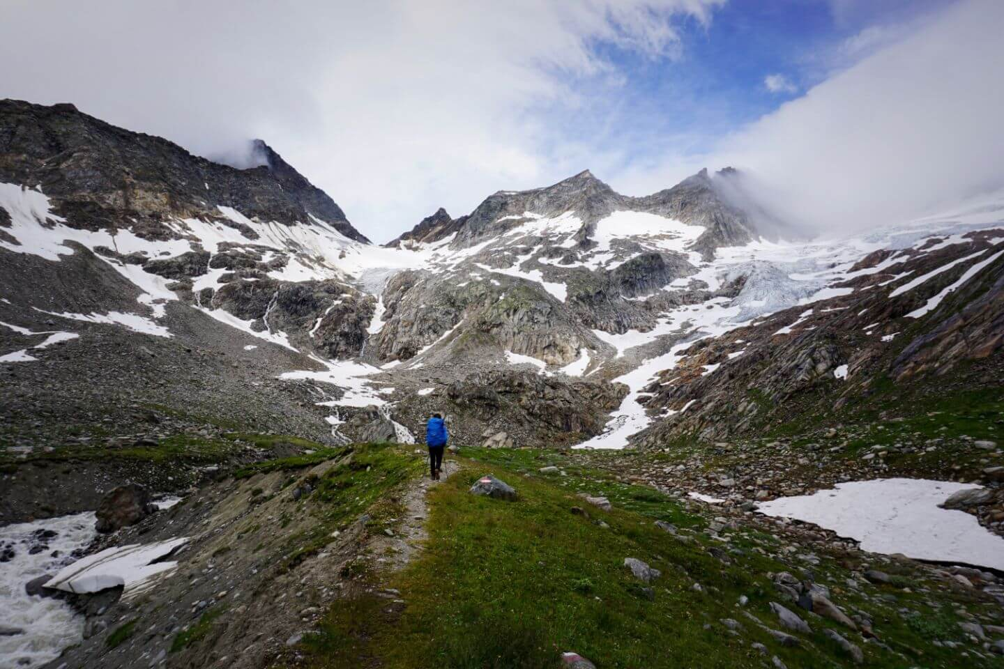 Trail to Simonysee - Venediger High Trail, East Tyrol, Hohe Tauern National Park, Austria