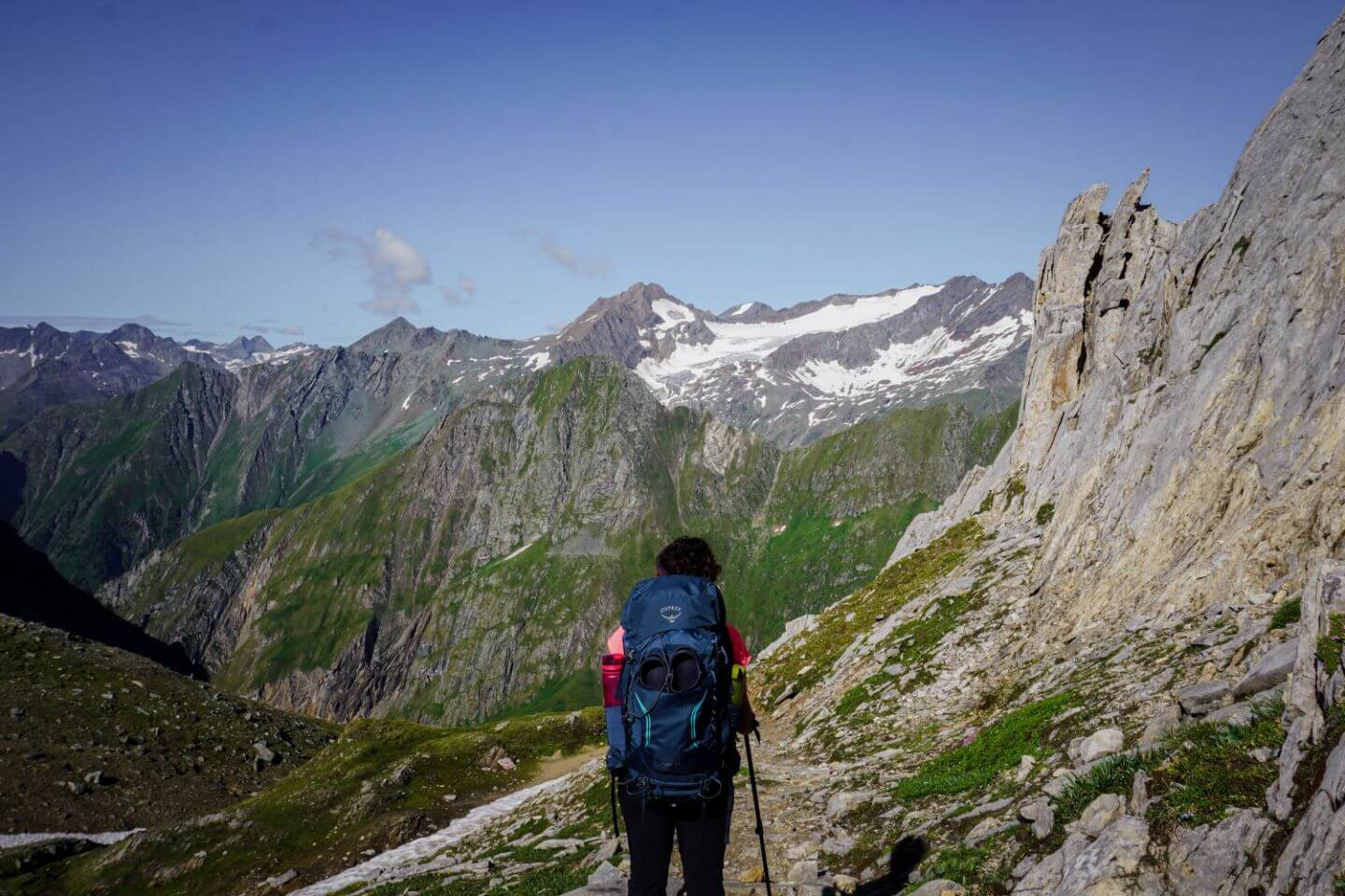 Hike up to Zopetscharte, Venediger High Trail, Hohe Tauern Trek, Austria