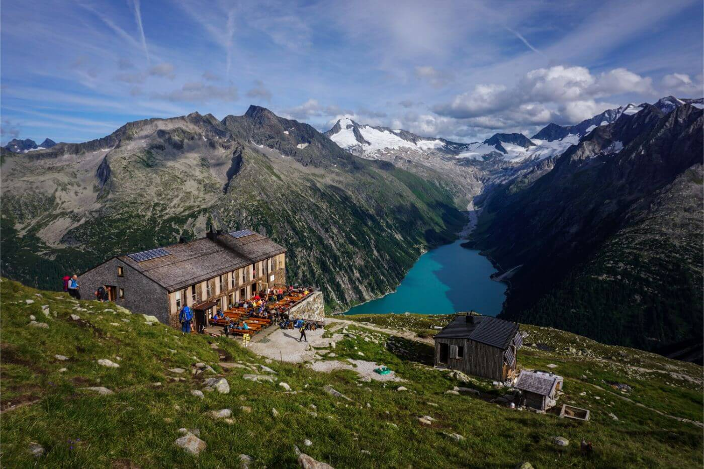 Olperer mountain hut / Olpererhütte, Berlin High Trail, Austria