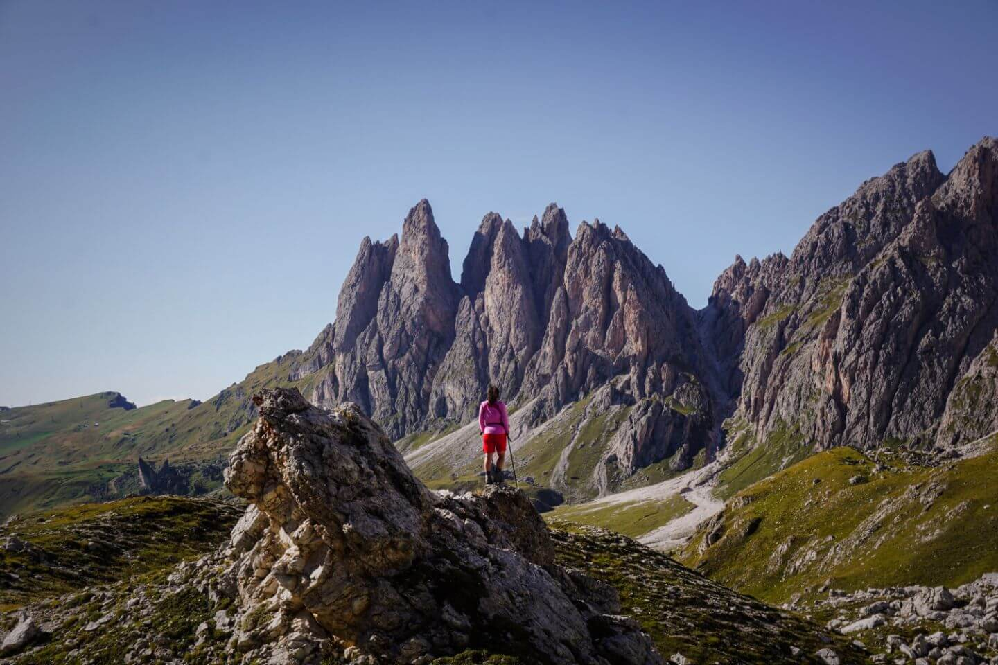 When to hike to Rifugio Stevia and Col dala Pieres, Val Gardena, Dolomites