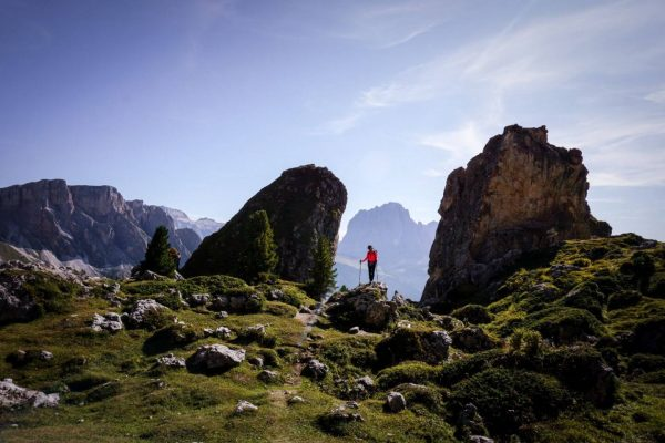 Hiking in the Dolomites in September, Italy