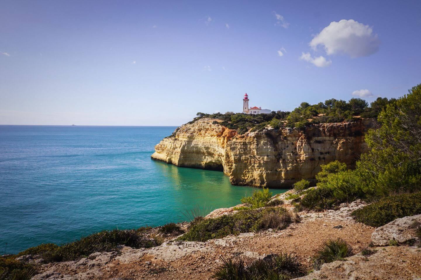 Alfanzina Lighthouse, Seven Hanging Valleys Trail, Algarve, Portugal