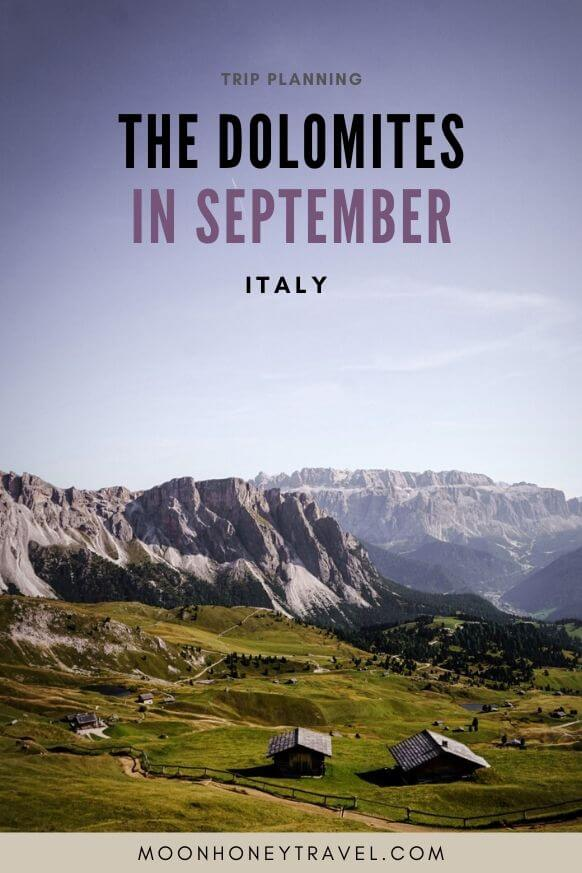 The Dolomites in September - Trip Planning
