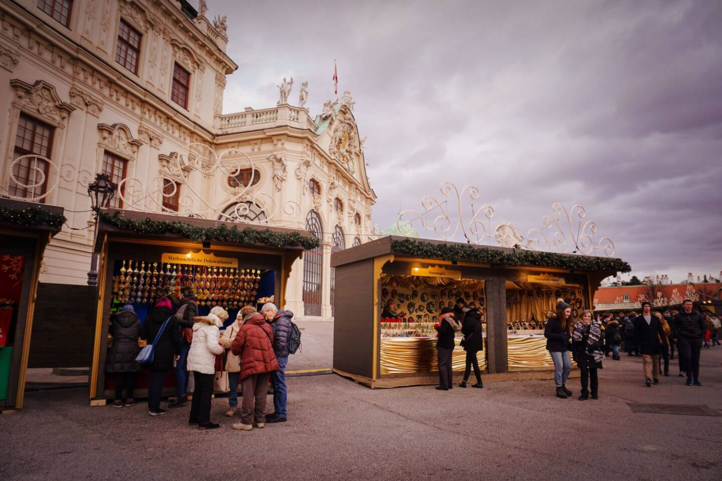 Belvedere Palace Christmas Market - Things to do in Vienna in Decemeber